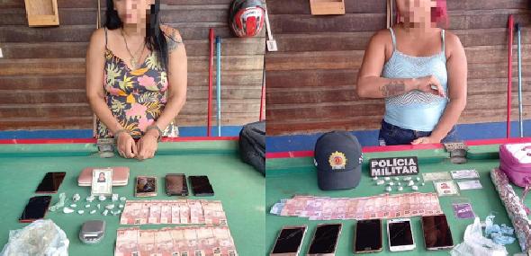 Duas mulheres são presas acusadas de tráfico de drogas em Moraes Almeida