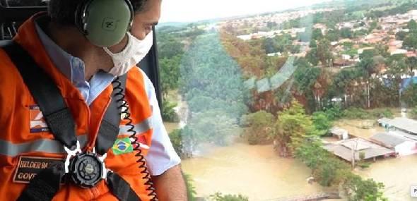 Governador visita trecho rompido da BR-010, em Ipixuna do Pará