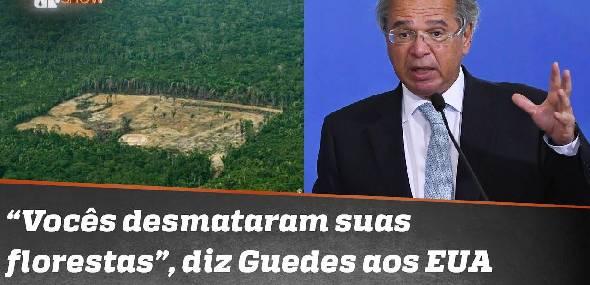 Guedes diz que EUA destruíram florestas e mataram a população indígena