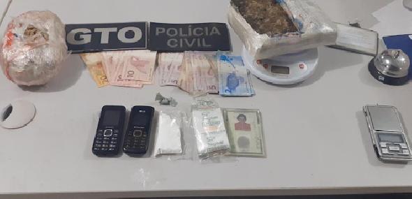 Homem com mais de 2 Kg de drogas é preso no bairro Jardim das Araras, em Itaituba