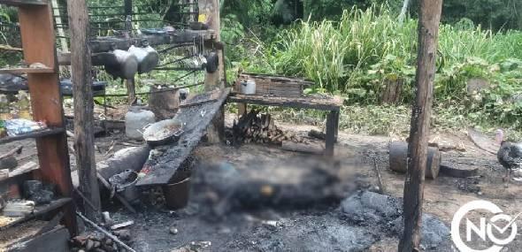 Homem é assassinado e tem corpo queimado.
