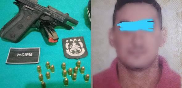 Homem é preso em flagrante por porte ilegal de arma de fogo em Novo Progresso