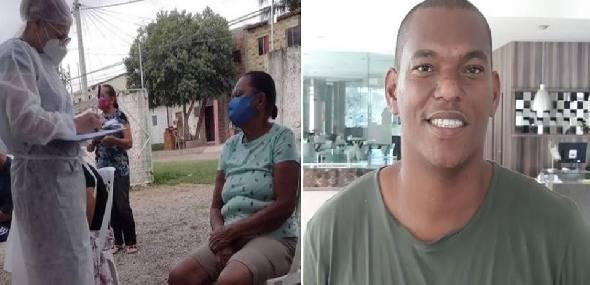 Mãe de técnico de enfermagem que dormia no terraço para não infectá-la toma 2ª dose da vacina