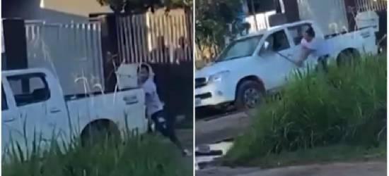Marido detona caminhonete que achava ser de amante da esposa, mas veículo era de visitante do vizinho