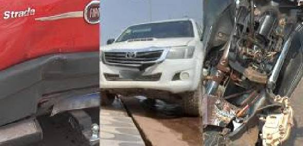 Mulher fica ferida após acidente entre três veículos na rodovia Transamazônica, em Itaituba