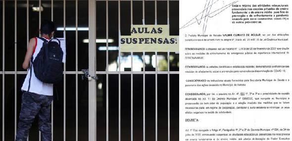 Novo decreto 100/2020 veta retorno das aulas presenciais em Escolas privadas em Itaituba
