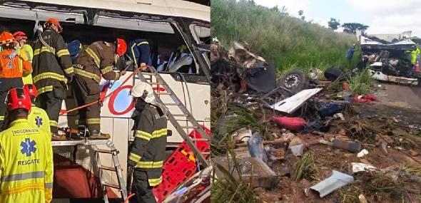 Ônibus que saiu do Pará com destino a RS colide com caminhão, mata 7 pessoas e deixa 34 feridos