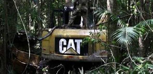 Operação destrói 20 máquinas usadas em garimpo ilegal em terra indígena no Pará