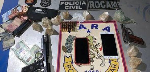 Operação policial em Jacareacanga resulta na detenção de cinco pessoas, drogas, armas e munições