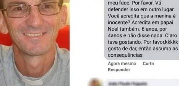 Padre faz piada sobre menina de 10 anos que foi estuprada: 'Gosta de dar'