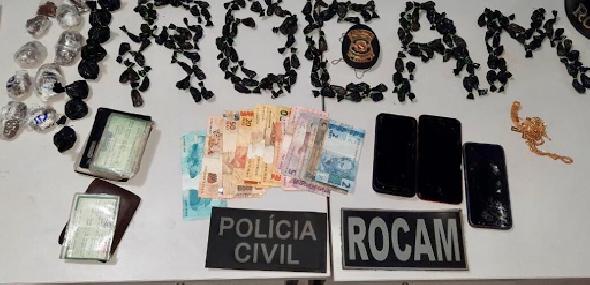 Polícia desarticula ponto de venda de drogas e prende dupla suspeita em Itaituba