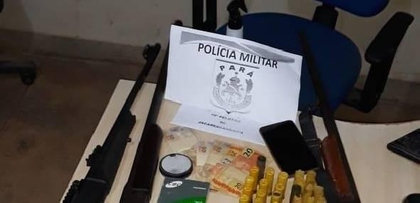 Polícia Militar de Jacareacanga realizou apreensão de armas de fogo