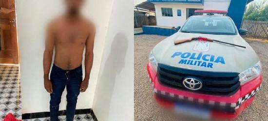 Suspeito de tentativa de homicídio e preso no Distrito de Moraes Almeida no Pará
