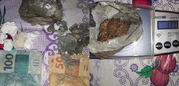 Suspeito de tráfico de drogas é preso pela polícia em comunidade de Trairão
