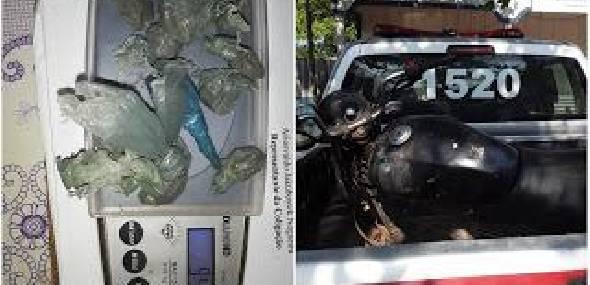 Três pessoas são presas com drogas, dinheiro e moto em distrito de Trairão