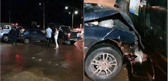 Veículos se chocam no cruzamento da 34º rua com rodovia transamazônica, em Itaituba